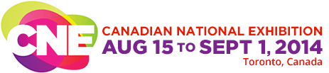 CNE logo - Canadian National Exhibition, August 16th to September 2nd, 2013 in Toronto, Canada.